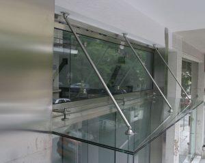 μεταλλικά στέγαστρα glass inox