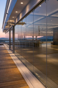 κατασκευή από γυαλί κατασκευή από inox glass inox cavo paradiso πτυσσόμενα κρύσταλλα